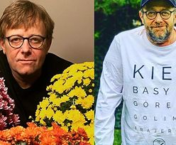 """Znacznie SZCZUPLEJSZY Olaf Lubaszenko wspiera sprzedawców kwiatów: """"Bądźmy życzliwi dla siebie"""" (FOTO)"""