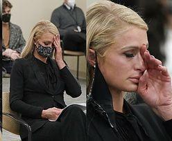 Zestresowana Paris Hilton zeznaje w sądzie w sprawie krzywd wyrządzonych jej przez nauczycieli... 23 lata temu (ZDJĘCIA)