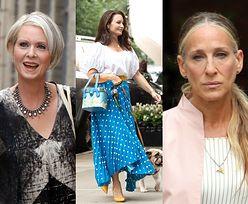 """Sarah Jessica Parker, Cynthia Nixon i Kristin Davis zadają szyku na planie """"And Just Like That"""". Udane stylizacje? (ZDJĘCIA)"""