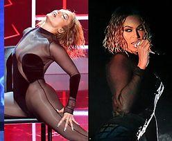 """American Music Awards. Żywiołowa Jennifer Lopez gimnastykuje się na scenie. Fani sugerują, że """"zainspirowała"""" się Beyoncé... (ZDJĘCIA)"""