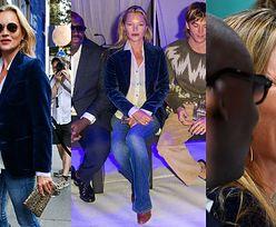 """Naturalna Kate Moss w zwyczajnej stylizacji wspiera córkę na pokazie w Londynie. Wciąż ma w sobie """"to coś""""? (ZDJĘCIA)"""