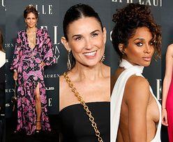 """Gwiazdy brylują na gali """"Elle"""": Demi Moore, Halle Berry, Hailey Bieber, Ciara... (ZDJĘCIA)"""