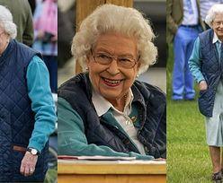 Roześmiana królowa Elżbieta bryluje na zawodach jeździeckich w Windsorze (ZDJĘCIA)