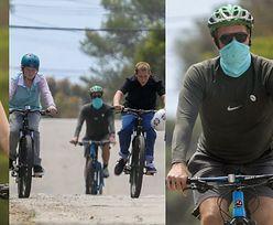 Dakota Johnson i Chris Martin korzystają ze słonecznej pogody na rodzinnej wycieczce rowerowej podczas kwarantanny (ZDJĘCIA)