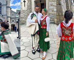 """""""Góralka"""" Zofia Ślotała z dumą prezentuje męża i dzieci w ludowych strojach (ZDJĘCIA)"""