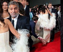 Troskliwy George Clooney ratuje Amal z opresji na czerwonym dywanie (ZDJĘCIA)
