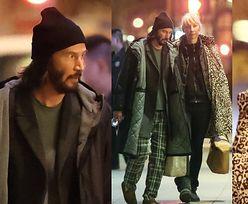 """Wystylizowany na kloszarda Keanu Reeves snuje się po planie """"Matriksa"""" w towarzystwie ukochanej (FOTO)"""