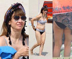Grażyna Wolszczak w bikini łapie słońce na plaży w Gdyni (ZDJĘCIA)