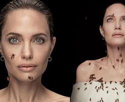 Angelina Jolie pozuje z ŻYWYMI PSZCZOŁAMI pokrywającymi jej ciało! (ZDJĘCIA)