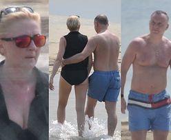 Andrzej Duda i Agata Kornhauser-Duda maszerują brzegiem morza na wakacjach w Juracie (ZDJĘCIA)