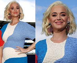 Promienna Katy Perry chwali się ciążowym brzuszkiem na mistrzostwach kobiecego krykieta w Melbourne (ZDJĘCIA)