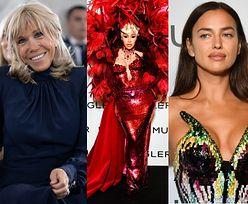 Gwiazdy na paryskim tygodniu mody: przyodziana w pióra Cardi B, Alessandra Ambrosio w rajstopie i skromna Brigitte Macron (ZDJĘCIA)