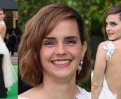 Emma Watson pozuje w nietypowej kreacji na gali z udziałem pary książęcej (ZDJĘCIA)