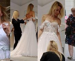 Małgorzata Opczowska mierzy wymarzoną suknię ślubną. Olśniewająca? (ZDJĘCIA)