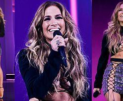 MTV VMA. Jennifer Lopez BEZ BIELIZNY kusi w sznurowanej mini (ZDJĘCIA)