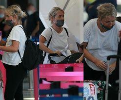 Ciężarna Olga Frycz wyprawia się do Chorwacji z gdańskiego lotniska (ZDJĘCIA)