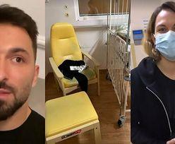 """Córka Rafała Maślaka trafiła do szpitala. Zbulwersowany celebryta grzmi na Instagramie: """"Tak wygląda łóżko Kamili"""""""