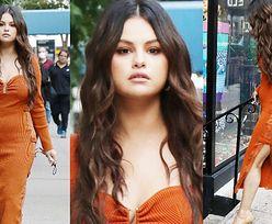 Posągowa Selena Gomez zachwyca kreacją na ulicy Nowego Jorku (ZDJĘCIA)