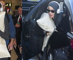 Ciężarna Katy Perry opuszcza Australię, chroniąc się przed koronawirusem za pomocą poduszki (ZDJĘCIA)