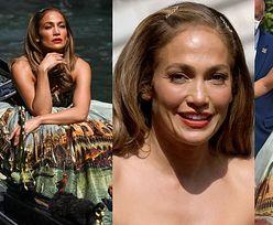 Jennifer Lopez sprawdza się w roli modelki, pozując dla Dolce & Gabbana w WENECKIEJ GONDOLI (ZDJĘCIA)
