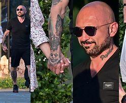 Patryk Vega dumnie przechadza się po stolicy z ŻONĄ i reklamówką, prezentując liczne tatuaże (ZDJĘCIA)