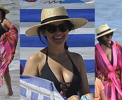 Katarzyna Cichopek kusi flaminga na rozgrzanej plaży (ZDJĘCIA)