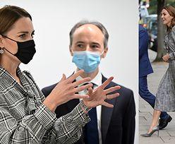Księżna Kate paraduje w TANIEJ SUKIENCE z Zary i butach od Hugo Bosa. Ambasadorka less waste? (ZDJĘCIA)