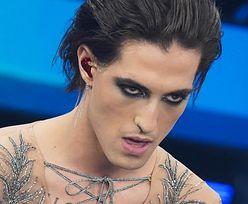 Damiano David z Maneskin romansuje na lodach z ubraną w zebrę narzeczoną (ZDJĘCIA)