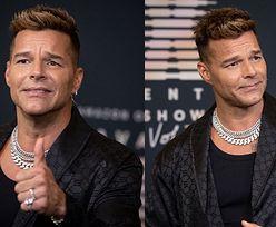Przygnębiony (?) Ricky Martin strzela miny na premierze bielizny Rihanny (ZDJĘCIA)
