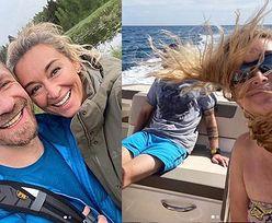 Rozczochrana Martyna Wojciechowska pozuje z Przemkiem Kossakowskim na wakacjach w Portugalii (FOTO)