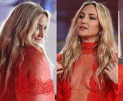 Kate Hudson eksponuje dekolt w sukni z prześwitami na festiwalu w Wenecji (ZDJĘCIA)
