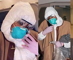 """Naomi Campbell w pełnym rynsztunku gotowa na koronawirusa: """"Bezpieczeństwo przede wszystkim"""""""