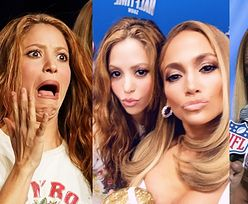 Jennifer Lopez i Shakira stroją miny na konferencji Super Bowl (ZDJĘCIA)