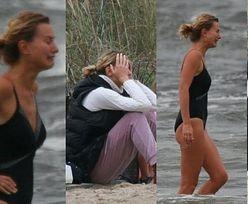 Zrozpaczona Joanna Moro ZALEWA SIĘ ŁZAMI na plaży w Sopocie (ZDJĘCIA)