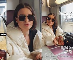 """Joanna Horodyńska ucieka przed koronawirusem pociągiem z Mediolanu do Paryża: """"Nie panikujmy. Nadal można kupić kapelusz i iść na kolację!"""""""