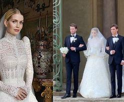 """Kitty Spencer poślubiła multimilionera w """"wiktoriańskiej"""" sukni ślubnej od Dolce & Gabbana! (ZDJĘCIA)"""