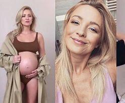 Roznegliżowana Barbara Kurdej-Szatan chwali się krągłościami podczas ciążowej sesji (ZDJĘCIA)