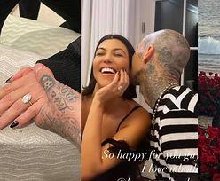 Kourtney Kardashian i Travis Barker się ZARĘCZYLI! (ZDJĘCIA)