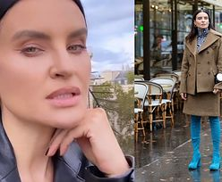 SUKCES JOANNY HORODYŃSKIEJ! Jej smerfne kozaczki doceniono na paryskim Tygodniu Mody (ZDJĘCIA)