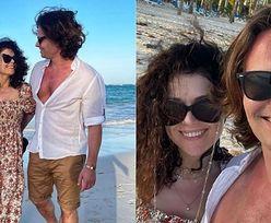 Katarzyna Cichopek i spalona klata Marcina Hakiela przesyłają życzenia świąteczne z wakacji na Dominikanie (ZDJĘCIA)