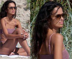Klaudia El Dursi W BIKINI smaży się na plaży w Chałupach (ZDJĘCIA)