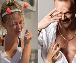 """Cezary Pazura wspiera biznes żony, publikując zdjęcie nagiego torsu. Internauci podzieleni: """"Miało być luksusowo, wyszło ODPUSTOWO"""""""