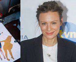 TYLKO NA PUDELKU: Nieustraszona Magdalena Boczarska rzuca się z wysokości na planie nowego serialu (ZDJĘCIA)