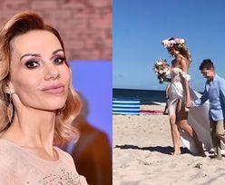Małgorzata Opczowska poszła do ślubu BOSO! Tak wyglądała ceremonia na plaży (ZDJĘCIA)