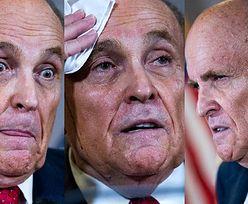 Wpadka prawnika Donalda Trumpa. Na konferencji po twarzy spłynęła mu... FARBA DO WŁOSÓW (FOTO)