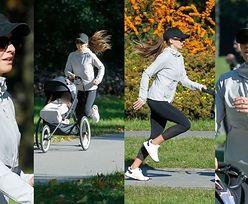 Anna Lewandowska biega po Polu Mokotowskim z Laurą w wózku za prawie 3 tysiące (ZDJĘCIA)