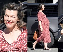 Naturalna Milla Jovovich prezentuje ciążowe krągłości na lunchu w Beverly Hills