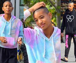 Beztroska Willow Smith prezentuje ŁYSINĘ na zakupach z chłopakiem (ZDJĘCIA)