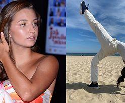 Wygimnastykowana Julia Wieniawa chwali się wygibasami na sopockiej plaży (FOTO)
