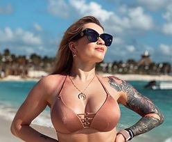 Tulumiara Ewelina Lisowska w bikini wystawia twarz do słońca  (FOTO)